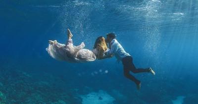 Photographe de mariage | Photographie de mariage sous-marine