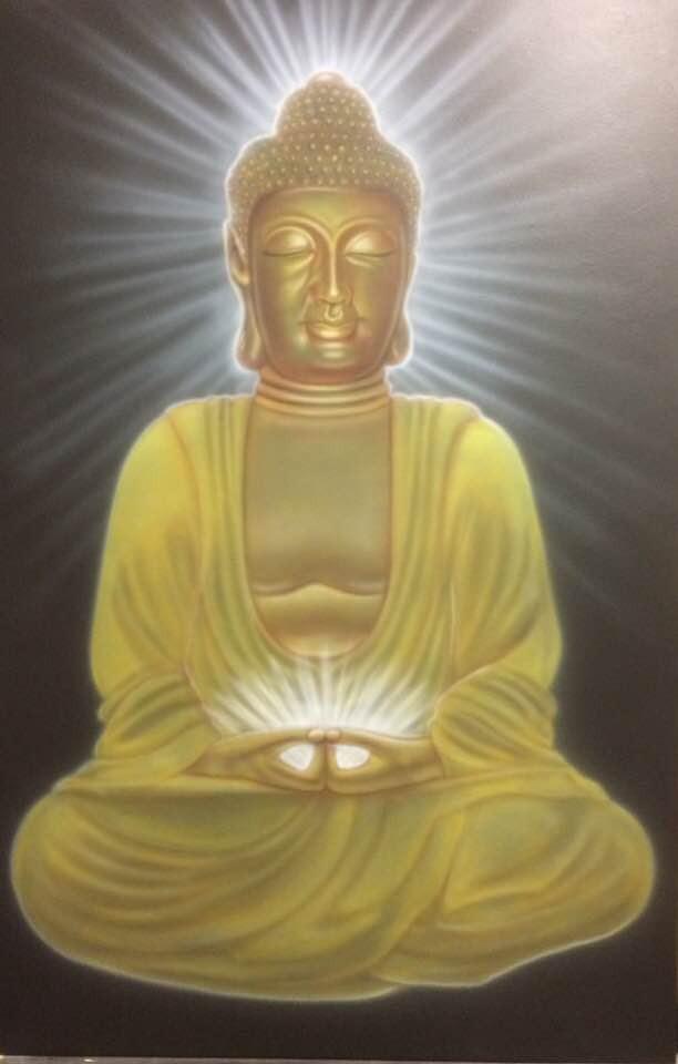 Peinture Buddha artistique sur toile | Yan Pigeon artiste et peintre québécois