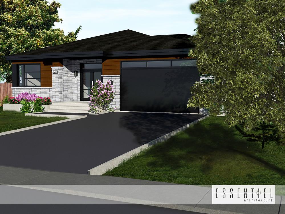 Conception 3D de plan de maison | Essentiel Architecture | Québec