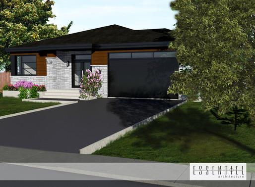 Conception 3D de plan de maison