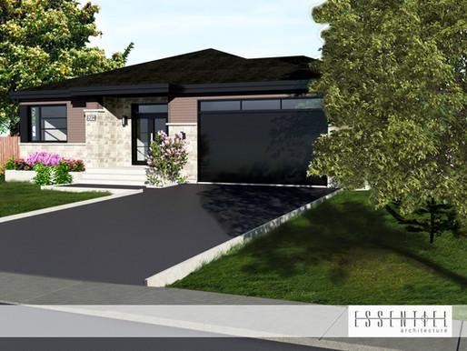 Conception 3D d'un modèle de maison moderne