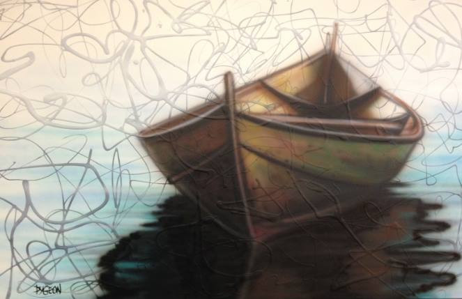 peintre artiste contemporain | Yan Pigeon | Canot
