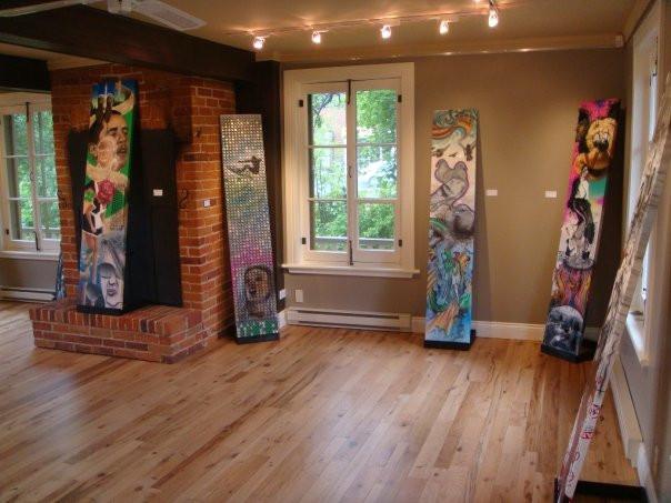 Peinture en acrylique sur toile - Exposition de Yan Pigeon artiste et peintre québécois 3
