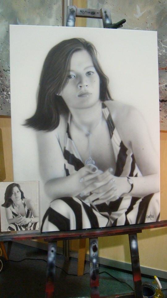 Portrait en noir et blanc | Yan Pigeon peintre et artiste à Québec