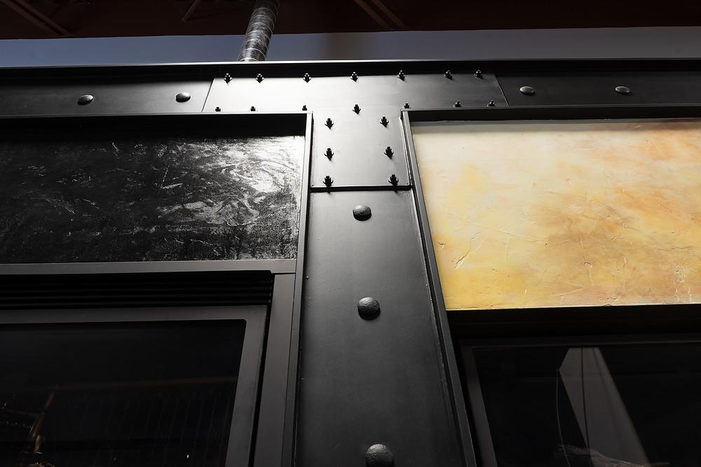 deco murale metal - Poutre en faux fini de metal