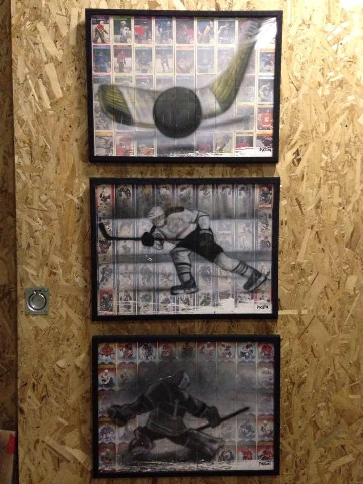 Collection de tableau et peinture sur toile de hockey   Yan Pigeon