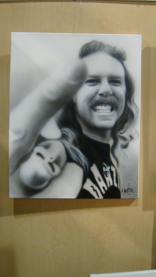 Peinture James Hetfield sur toile carrée | Yan Pigeon