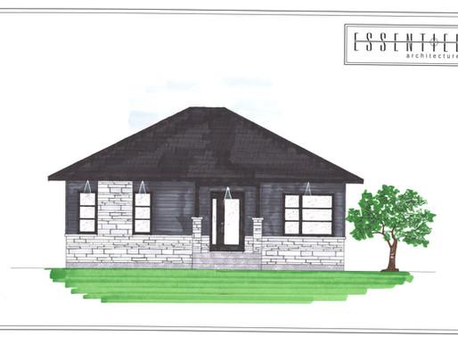 Coloration d'un bungalow de style moderne
