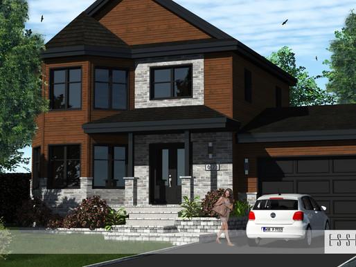 Conception 3D d'un modèle de maison à étage