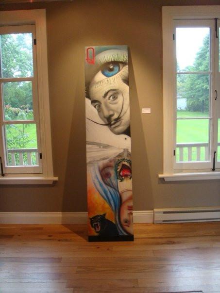 Peinture en acrylique sur toile - Exposition de Yan Pigeon artiste et peintre québécois 2