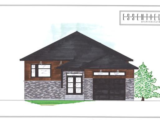Coloration de plan de maison neuve par Essentiel Architecture