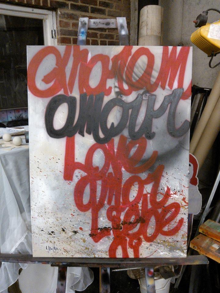 Peinture sur toile au airbrush | Yan Pigeon artiste et peintre à Québec