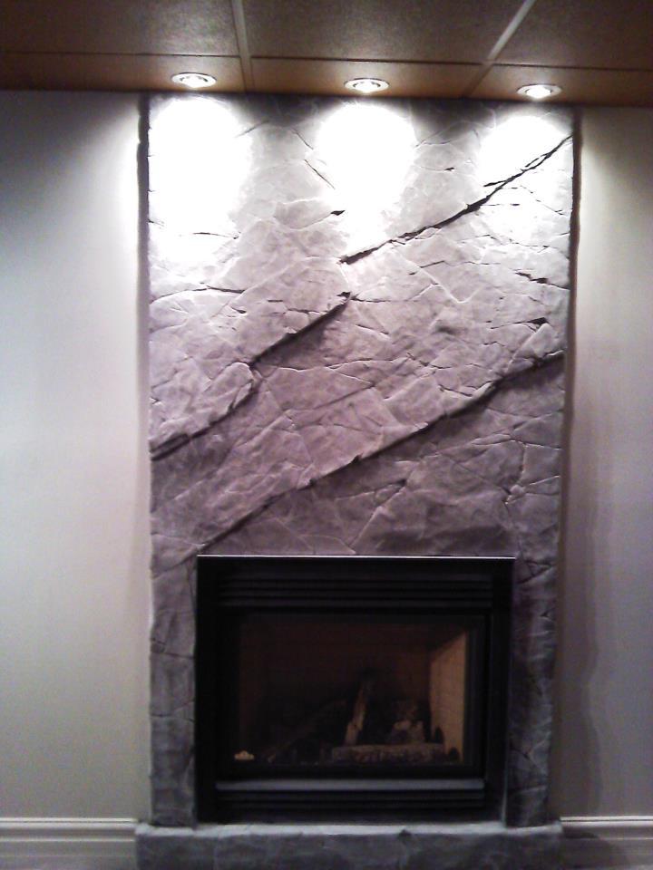 faux fini de mur en béton à Québec par Yan pigeon | Artiste et peintre