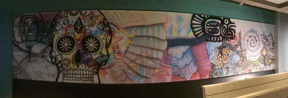 Peinture au airbrush sur murale | Design Yan Pigeon artiste québécois 3