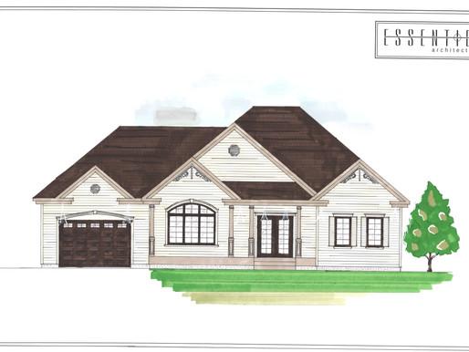 Modèle de coloration de plan de maison
