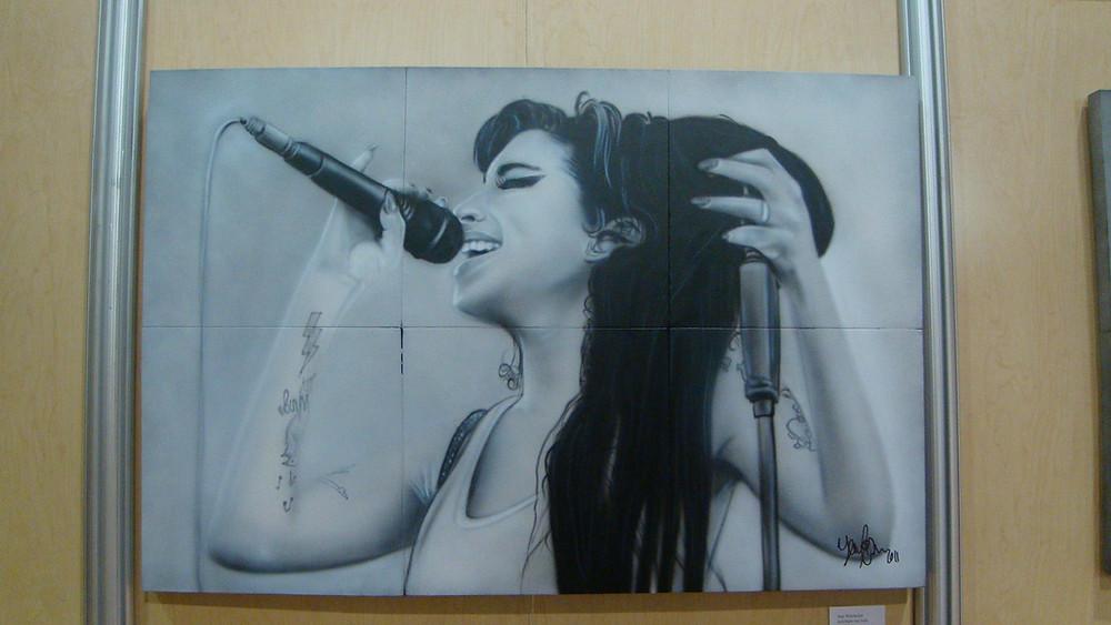 Amy winehouse - Image de peinture sur toile - Yan Pigeon