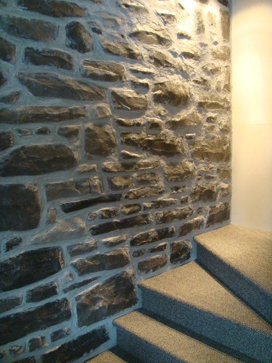 Un mur de pierre en plâtre - Yan Pigeon 2