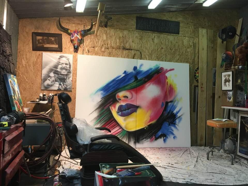 Peinture sur toile avec un design abstrait | Yan Pigeon