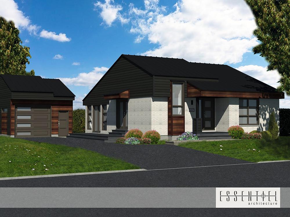 Conception 3D d'un plan de maison   Essentiel Architecture   Québec