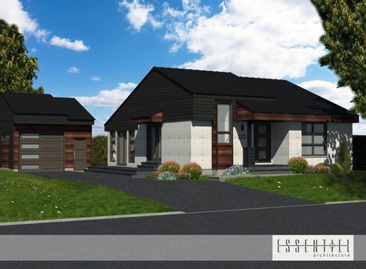 Conception 3D d'un plan de maison
