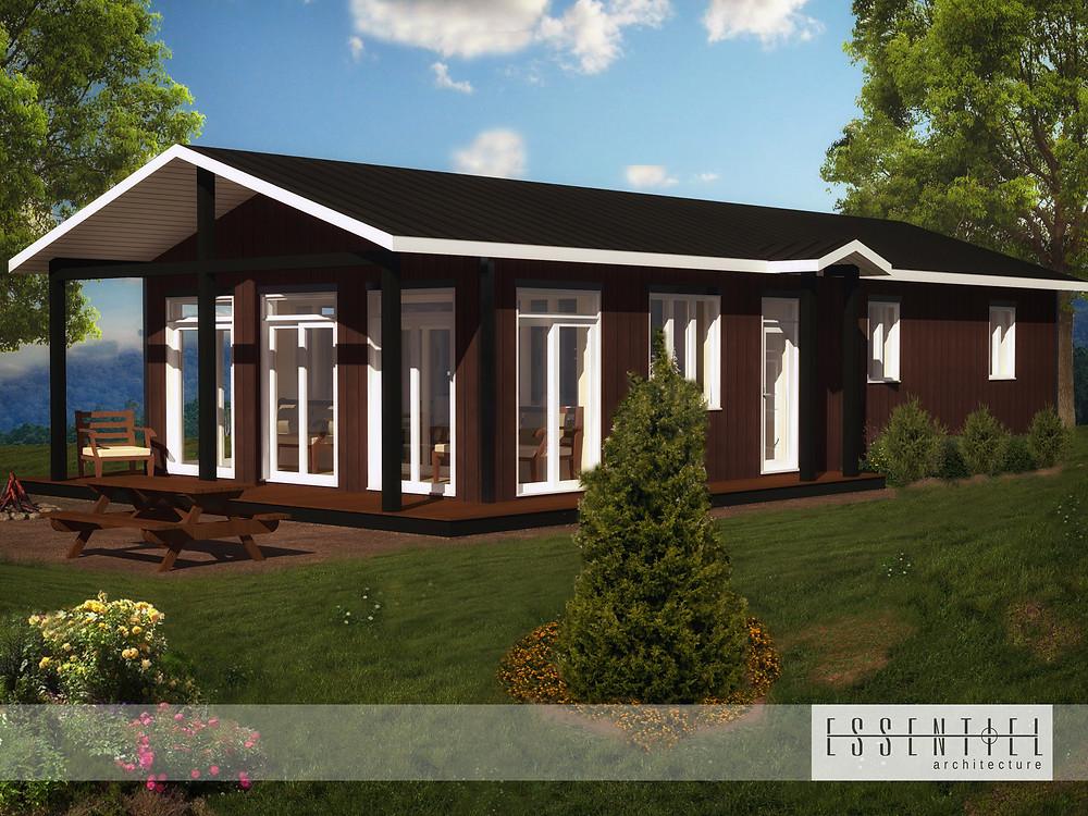 Conception 3D de chalet   Essentiel Architecture   Québec