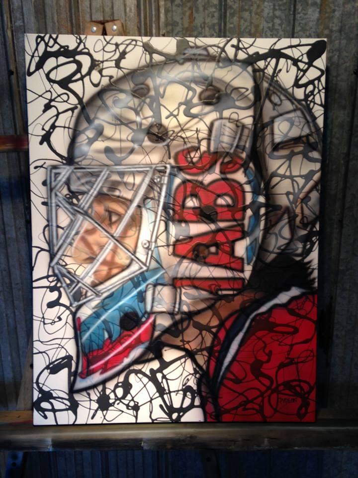 Peinture sur toile des HABS contemporaine | Canadiens de montréal | Yan Pigeon