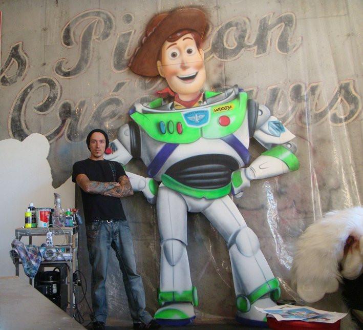 Toy Story à Québec | Artiste peinture et airbrush à Québec | Yan Pigeon 10