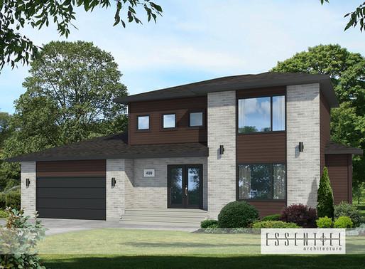 Conception 3D d'une maison modèle moderne