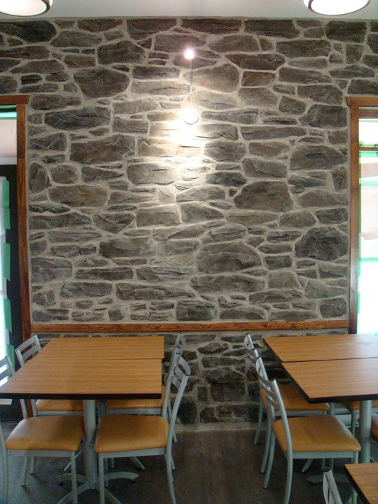 Fini muraux en pierre | Murale Yan Pigeon artiste et peintre québécois 4