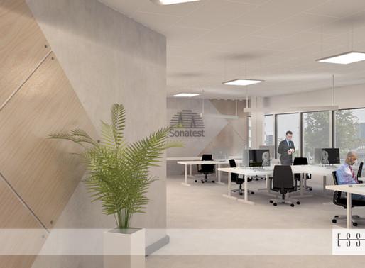 Conception intérieure 3D de bureau