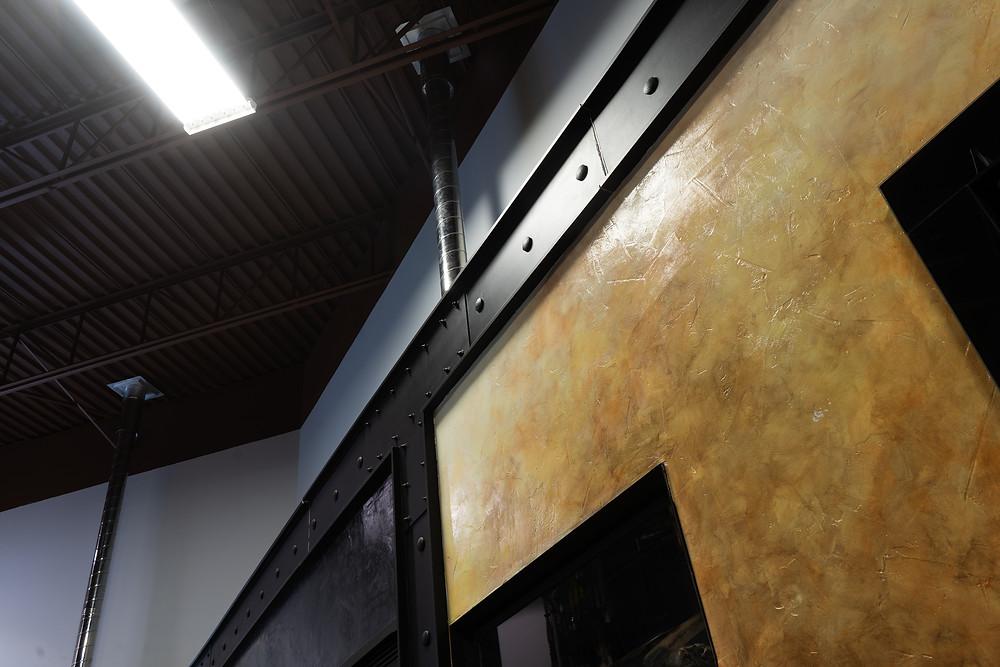 deco murale metal - Poutre en faux fini de metal 2