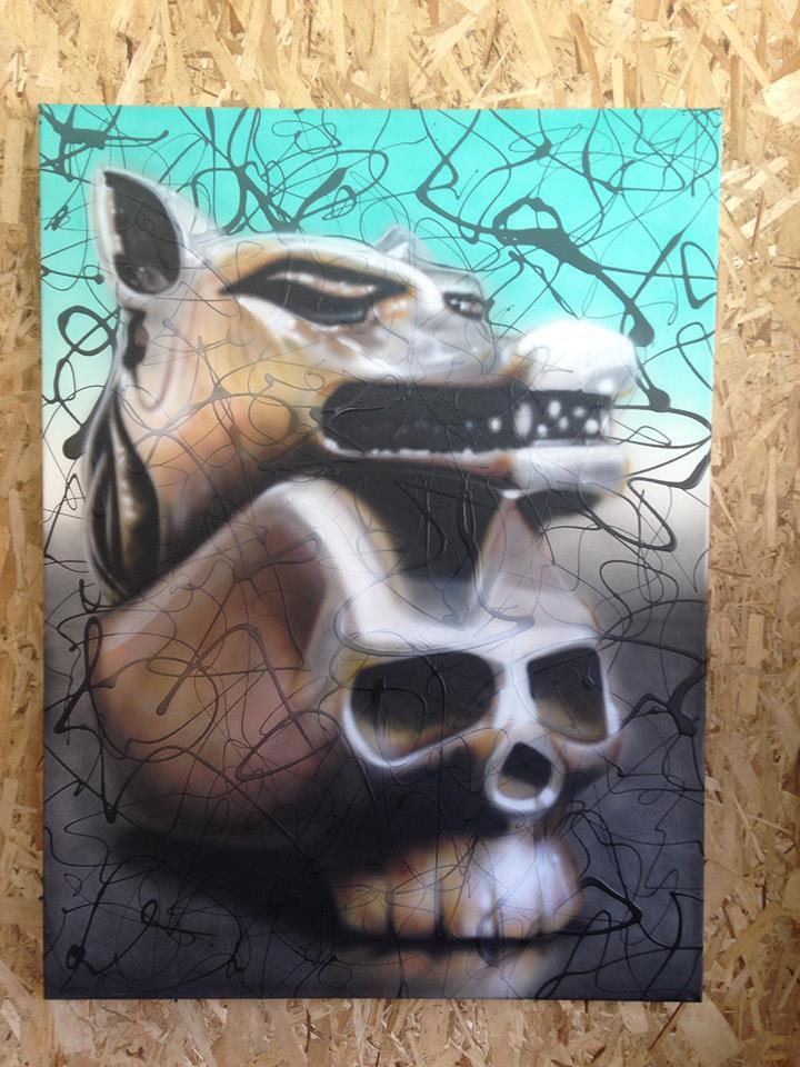 Peinture de crânes a vendre   Yan Pigeon artiste peintre Québec
