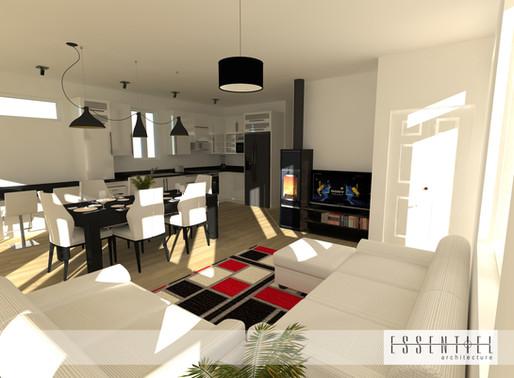 Conception intérieure 3D de maison