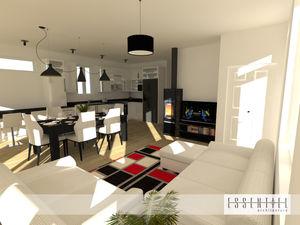 Intérieur de maison en 3D