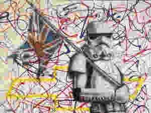 Peinture sur toile de storm trooper, star wars deco | Yan Pigeon |