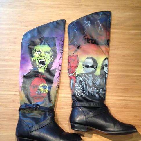 "Peinture sur bottes ""Metallica"""