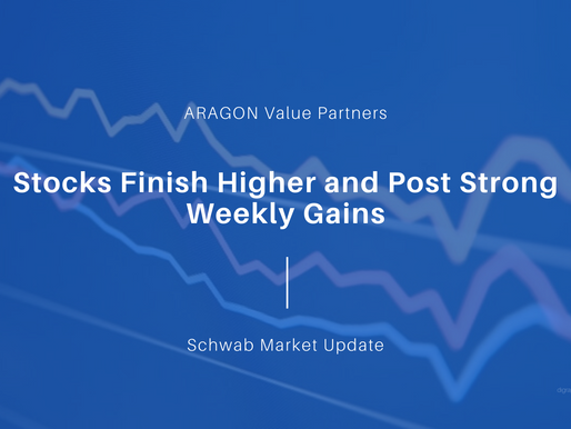 Stocks Finish Higher and Post Weekly Gains