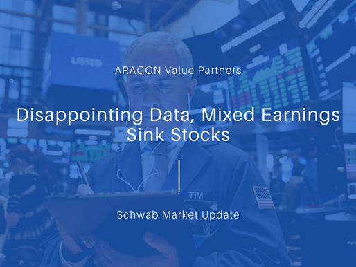Disappointing Data, Mixed Earnings Sink Stocks