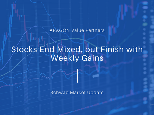 Stocks End Mixed, but Finish with Weekly Gains