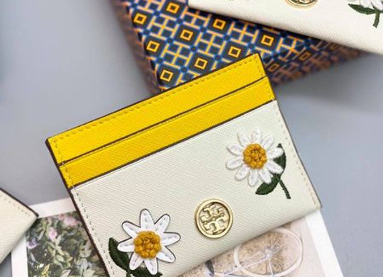 VÍ CARD HOLDER TORY BURCH THÊU HOA