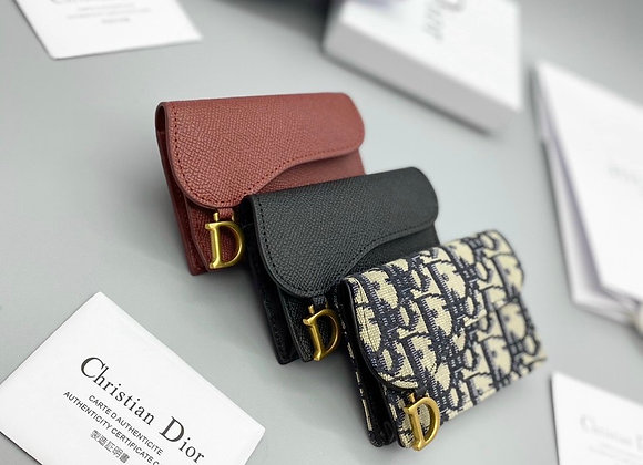 VÍ CARD DIOR SADDLE