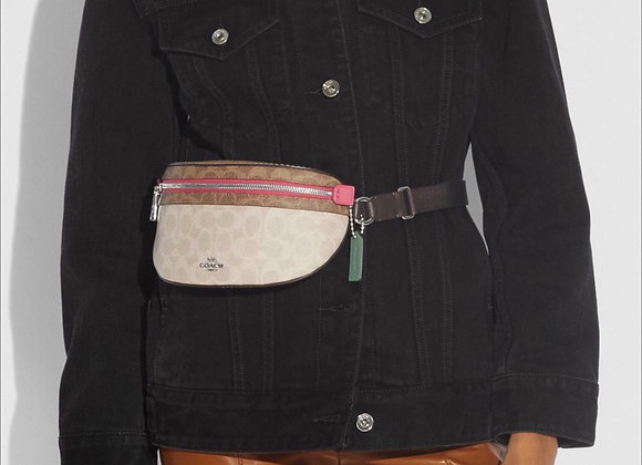 Coach Bethany Belt Bag In Blocked Signature Canvas