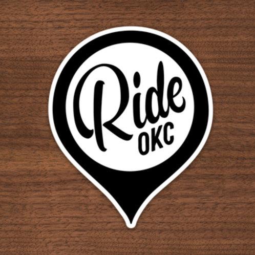 Ride OKC Badge Sticker