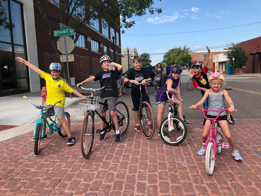 kids who ride bikes children bike tour cookie birthday party