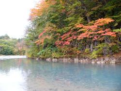 紅葉の松川渓谷