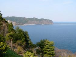 釜石湾の景色