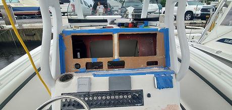 Marine dash panel installation