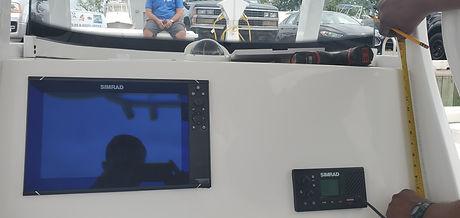 Marine dash panel measuring