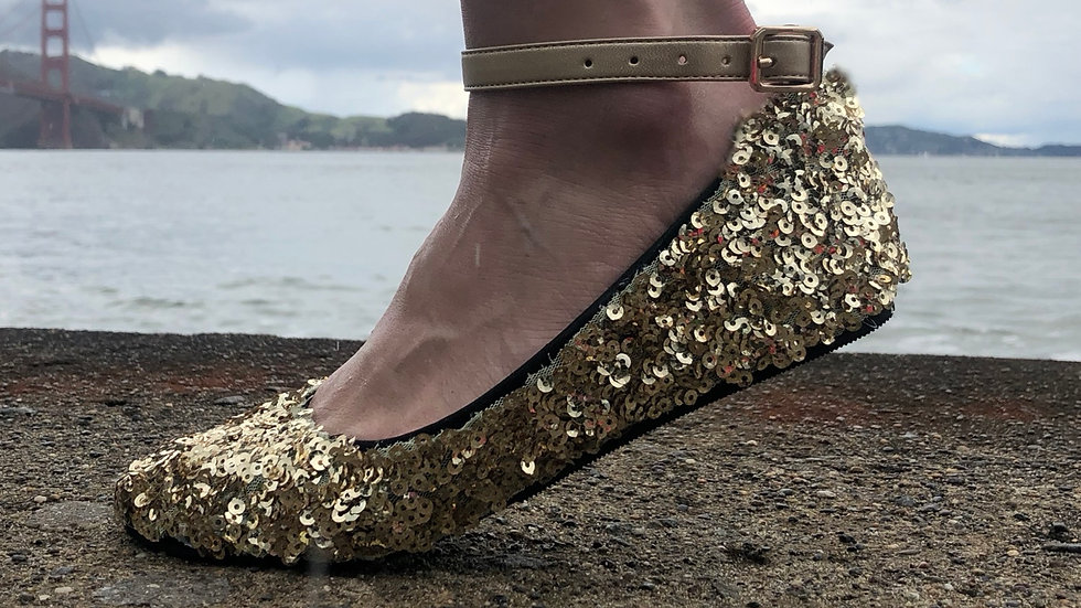 FlipSlips Sequined Party Shoes
