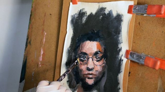Today's little painting in 50 seconds